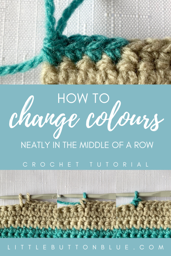 How to change colours neatly in the middle of a row. Crochet tutorial